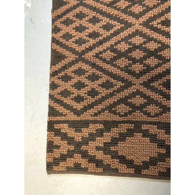 Heavy Knit Brown and Tan Geometric Rug For Sale In Atlanta - Image 6 of 13