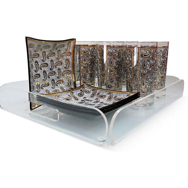 1970s Pucci-Style Bar Set with Tray - Set of 11 - Image 4 of 6