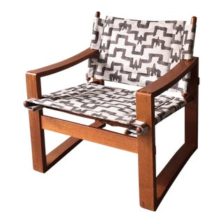 Rare Borge Jensen & Sonner Safari Armchair For Sale