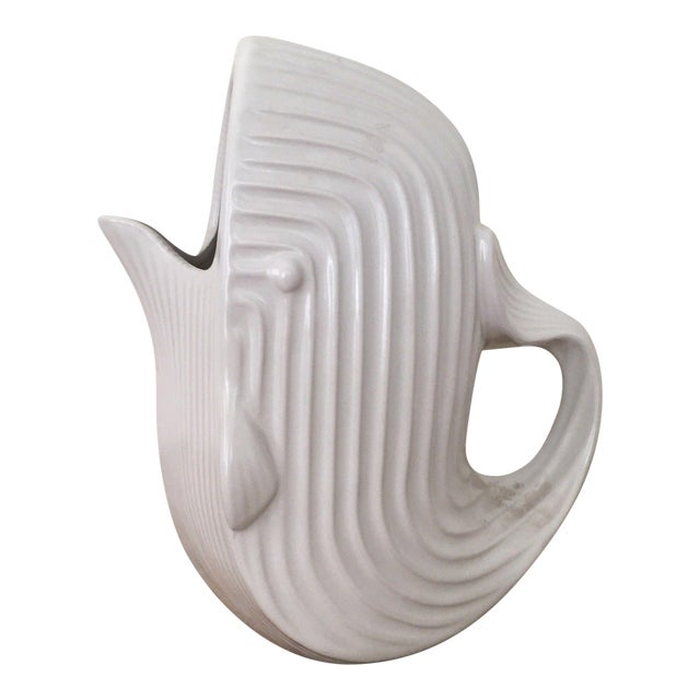 Jonathan Adler Signed White Whale Pitcher - Image 1 of 6