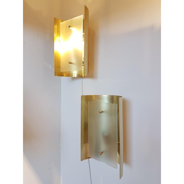 D'Lightus bespoke curved brass and frosted glass 12 lights chandelier - Image 8 of 8