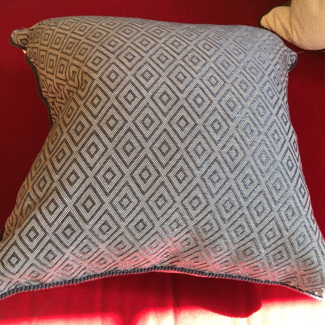 Custom Pillows in Jim Thompson Outdoor Fabric - A Pair - Image 4 of 9