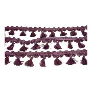 Kravet Ta5188 in 1010 Purple Liliac Mauve Tassel Fringe Trim - 20-1/2y For Sale