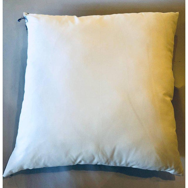 Enormous Hollywood Regency Style Hermes 'Sextants' Silk Stuffed Pillow For Sale - Image 10 of 11