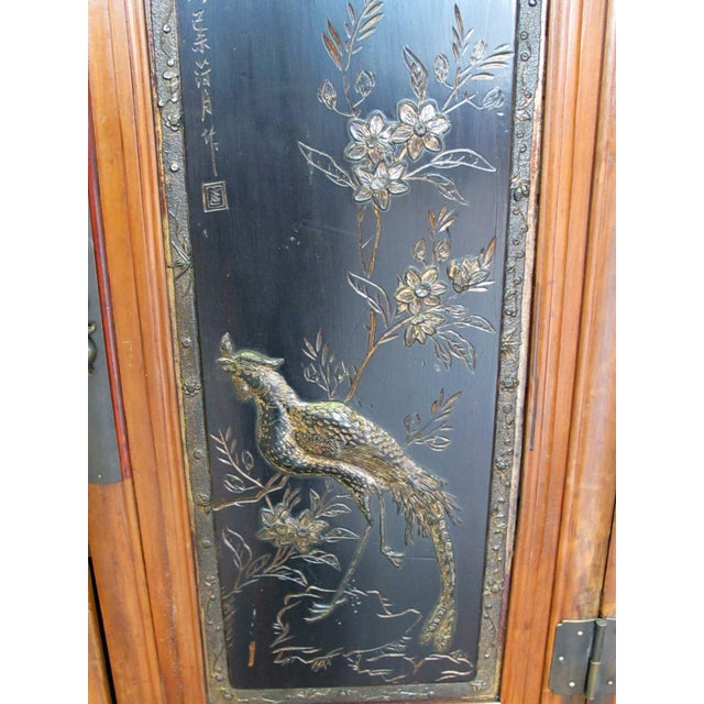 Crane & Phoenix Motif Cabinet For Sale - Image 5 of 10