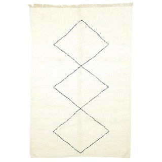 Contemporary Moroccan Rug Berber Moroccan Rug - 7′2″ × 10′4″ For Sale