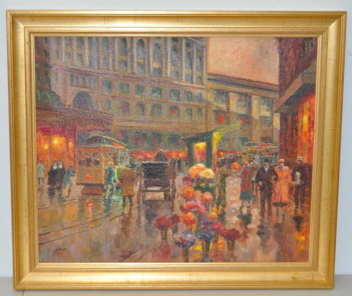 San Francisco Oil Painting By Lorain Archibald Garner C.1950   Image 2 Of 8