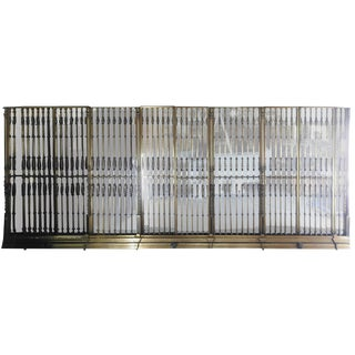 20th Century Bronze Mirrored Wall Architectural Set Attributed to Samuel Yellin For Sale
