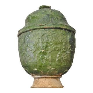 Vintage Chinese Lotus Jar For Sale