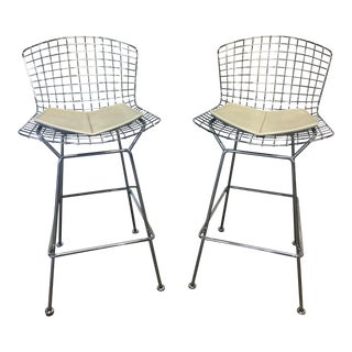 Harry Bertoia for Knoll Wire Bar Stools - A Pair