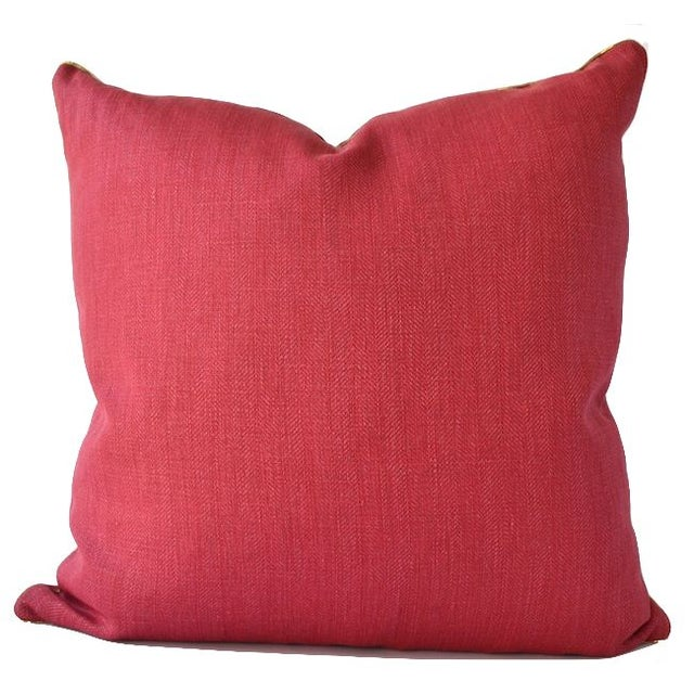 Avosetta Home Sherbet Pink Linen Pillow - Image 1 of 3