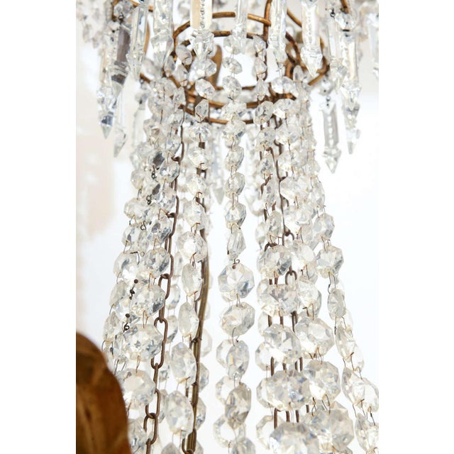 Empire Form Crystal Chandelier For Sale - Image 9 of 10