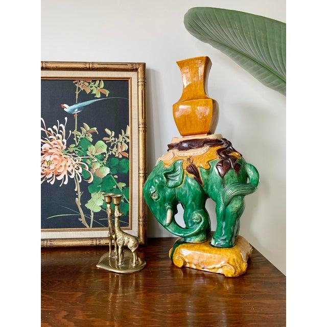 Vintage Elephant Figure Vase For Sale - Image 10 of 11