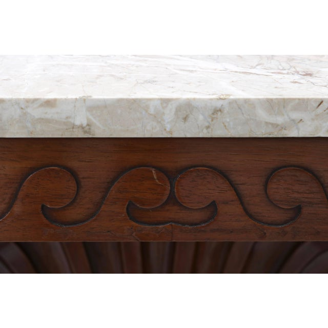 Shell Motif Mahogany Console Table by Edward Wormley for Dunbar Furniture For Sale In West Palm - Image 6 of 10