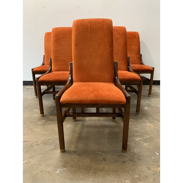 Mid-Century Modern 1970s Vintage Henredon Walnut Dining Chairs- Set of 8 For Sale - Image 3 of 13