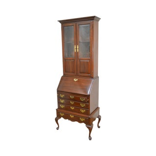 Ethan Allen Georgian Court Queen Anne Secretary Desk