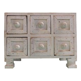 Vintage Distressed Sewing Storage Box