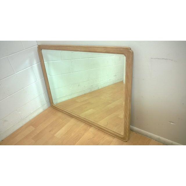 Hendredon Vintage Washed Oak & Steel Mirror - Image 2 of 3