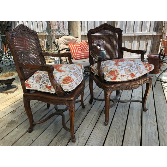 French Caned Chairs - a Pair For Sale - Image 11 of 11