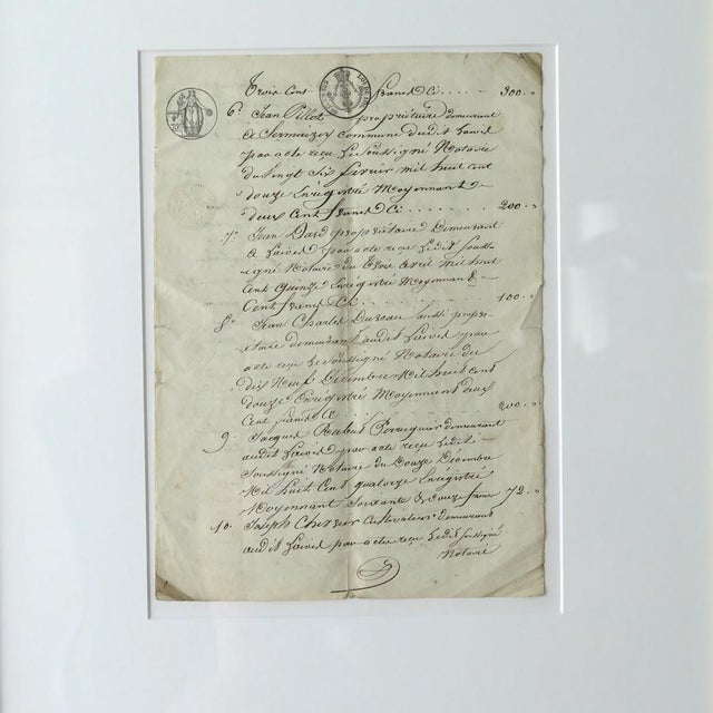 Contemporary Antique French Farmer's Transcript For Sale - Image 3 of 7