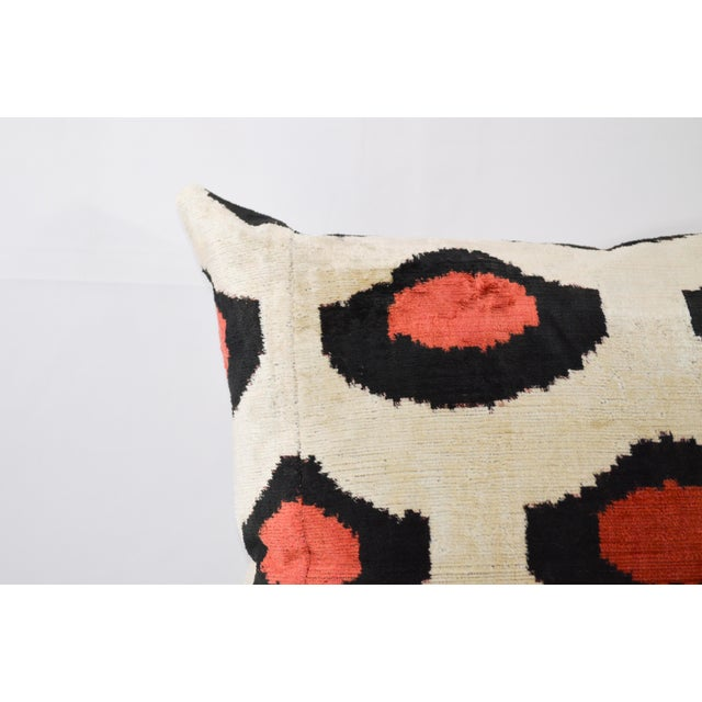 Red & Black Dot Pillow With Insert For Sale In Greensboro - Image 6 of 7