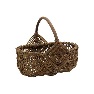 French Farmers Market Vegetable Basket For Sale