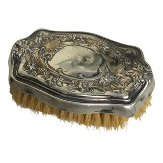 Antique Sterling Silver Plated Brush