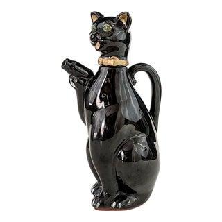 1950s Vintage Black Cat Pitcher Tea Pot Shafford Cruet For Sale