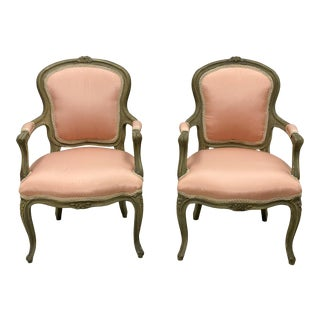 Vintage French Children's Chairs - a Pair For Sale
