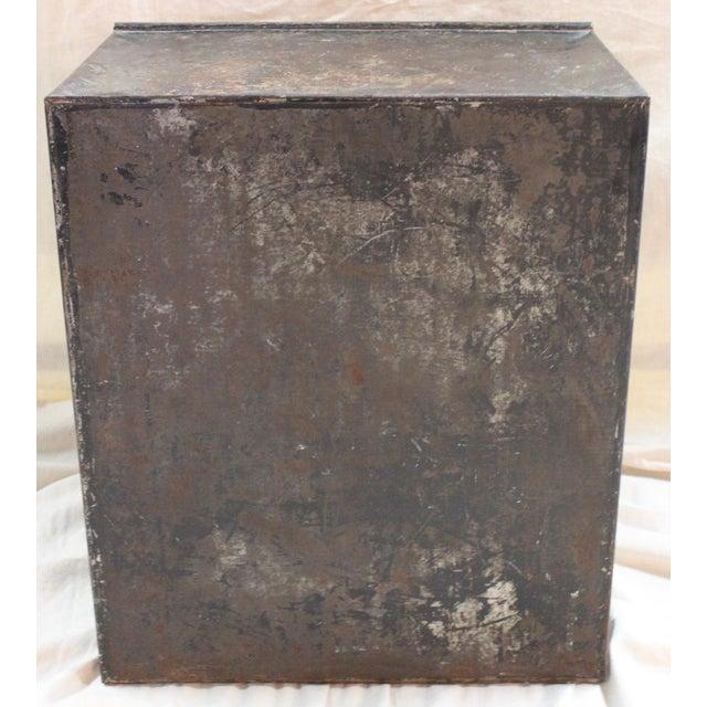 Gold Antique Tea Bin/Side Table For Sale - Image 8 of 13