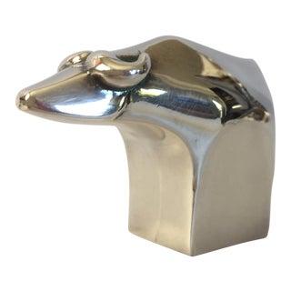 1970s Gunnar Cyren Designed for Dansk Paperweight Silver Plate Buffalo For Sale