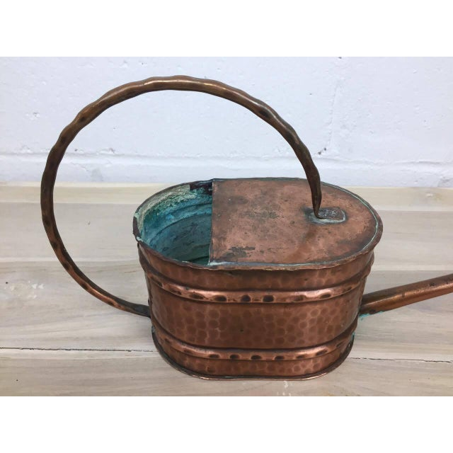 Vintage French Country Rustic Copper Flower Watering Pot - Image 7 of 9