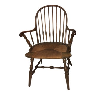 Vintage Upstate New York Country Chair Rush Seat For Sale