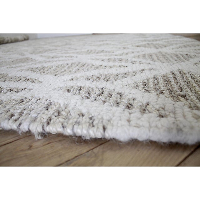 New Modern Wool and Natural Fiber Rug For Sale In Los Angeles - Image 6 of 10