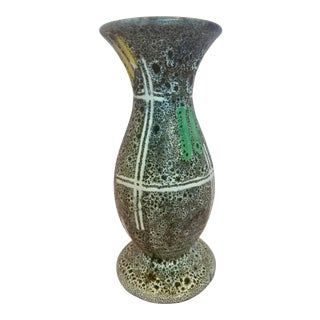 1950s West Germany Fat Lava Vase For Sale