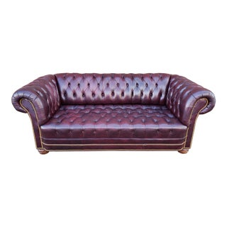 Modern Genuine Leather Chesterfield Sofa For Sale