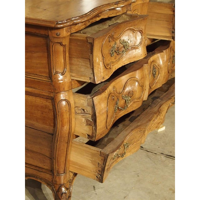 "Rare Period Louis XV Pearwood Commode ""En Tombeau"" Circa 1750 For Sale In Dallas - Image 6 of 11"