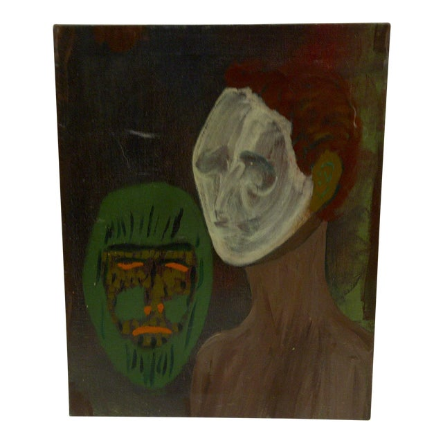 "Original ""The Ghost & the Mask"" Painting - Image 1 of 5"