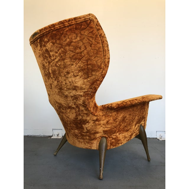 Fabric 1970s Vintage Ben Seibel Wingback Lounge Chair For Sale - Image 7 of 9
