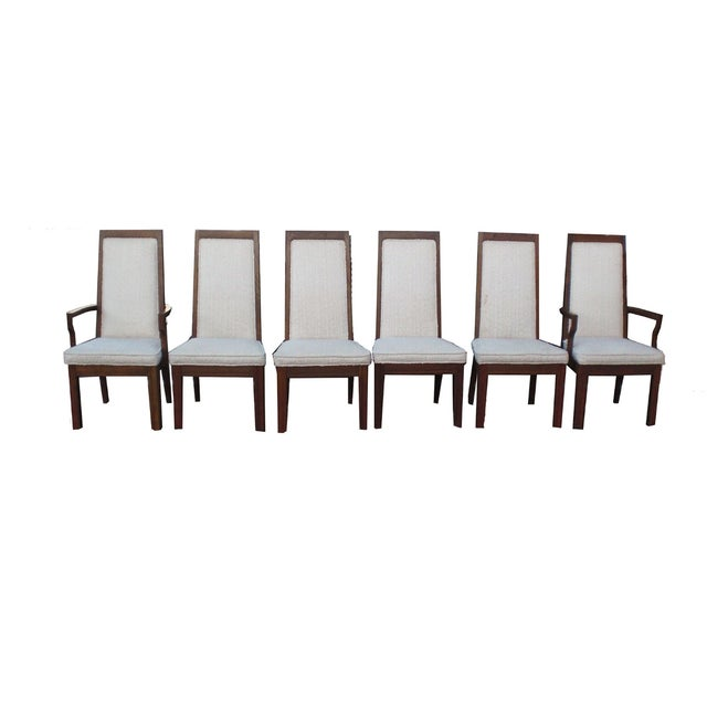Mid-Century Modern Formica Wood Dining Set - Image 4 of 9
