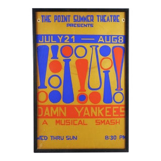 "Summer Theater Poster ""Damn Yankees"" Serigraph For Sale"