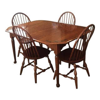 Hitchcock Dining Table & Chairs -Set of 5