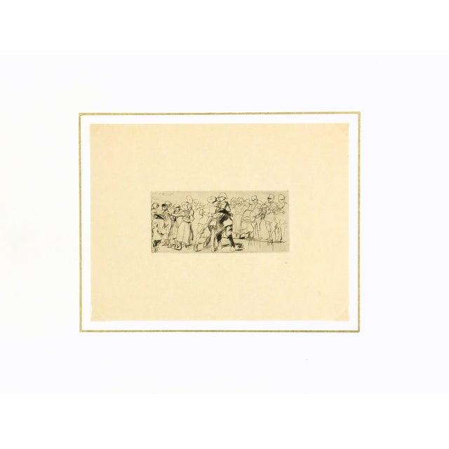 Antique 1931 Diaspora of Belz Engraving - Image 3 of 3