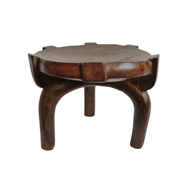 Tanzania Wood Stool For Sale - Image 4 of 4
