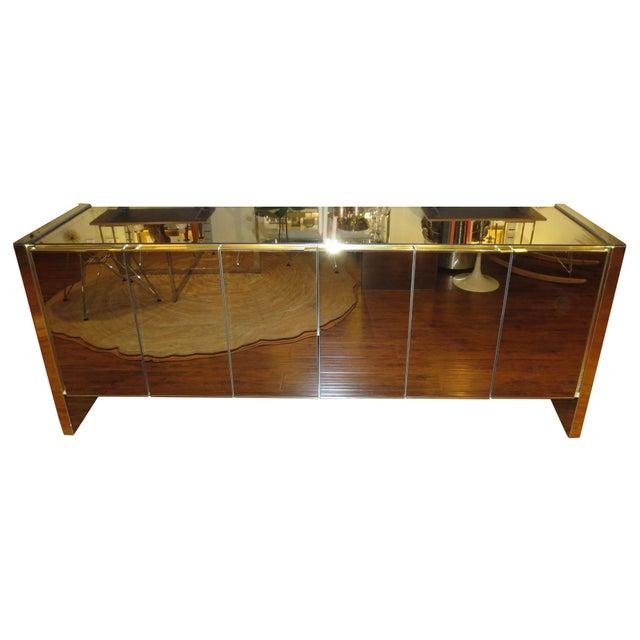 Vintage Ello Bronze Mirror Buffet with Brass Trim - Image 1 of 6