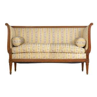 French Louis XVI Style Provincial Antique Loveseat Sofa Canapé, 19th Century For Sale