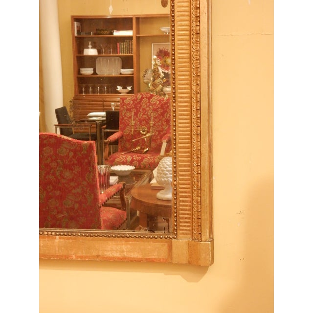 French 19th Century Louis XVI Gold Gilt Mirror For Sale - Image 3 of 8