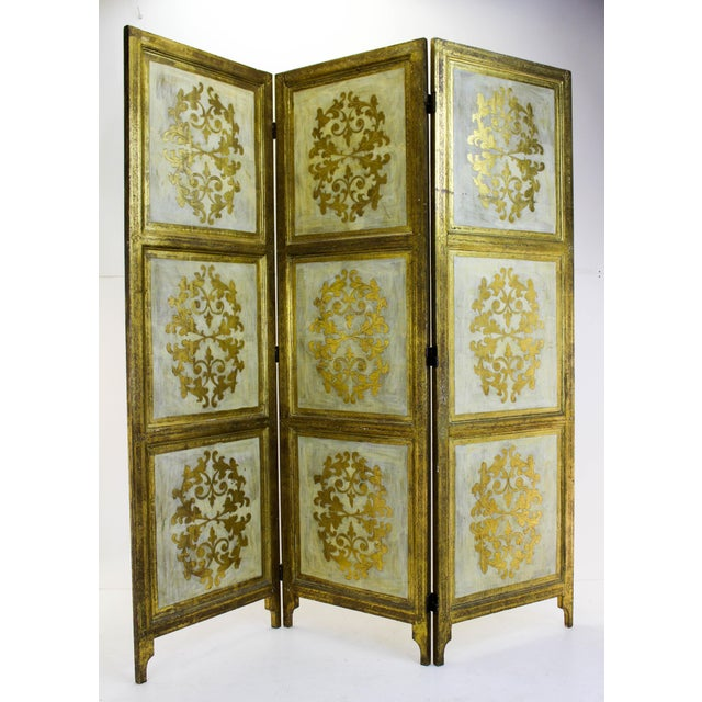 Vintage Florentine 3 Panel Screen - Image 2 of 11