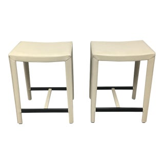 Design Within Reach Ivory Counter Stools - a Pair