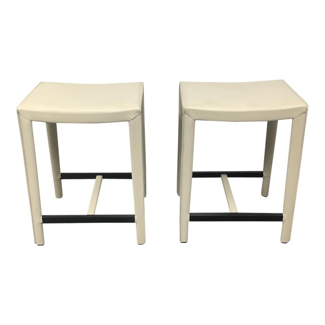 Design Within Reach Ivory Counter Stools A Pair Chairish
